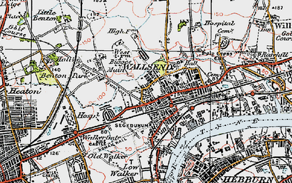 Old map of Wallsend in 1925