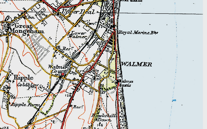 Old map of Walmer in 1920