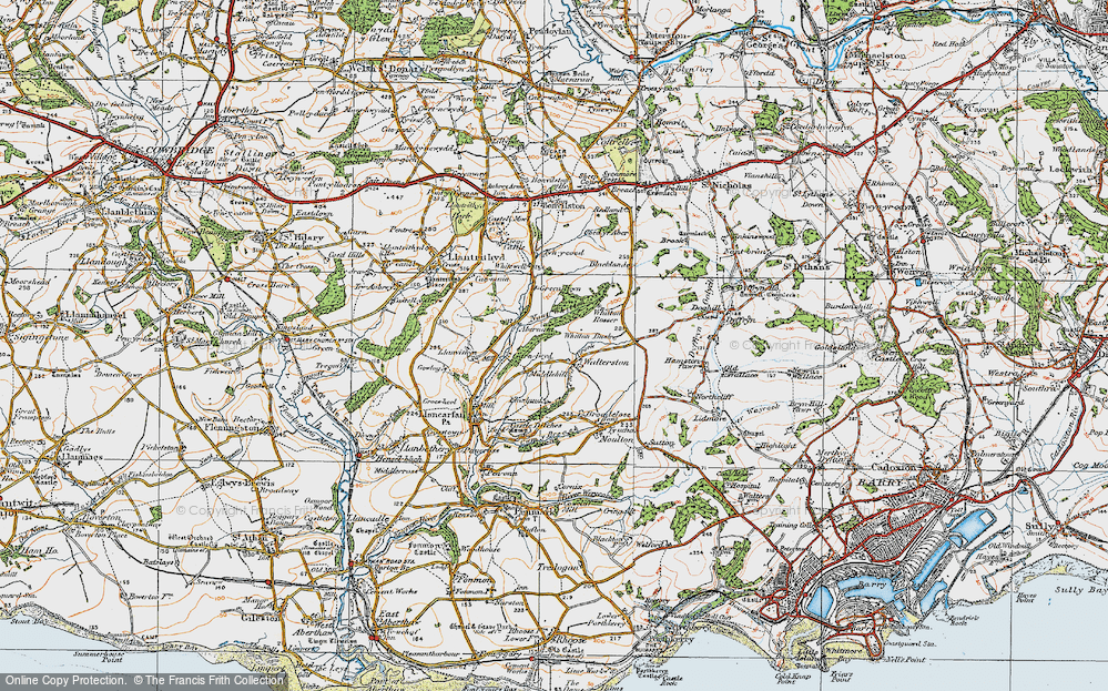 Old Map of Historic Map covering Whitewell in 1922