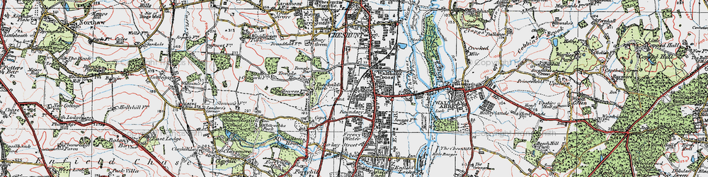 Old map of Waltham Cross in 1920
