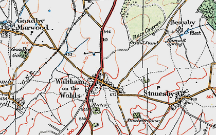 Old map of Lings Covert in 1921