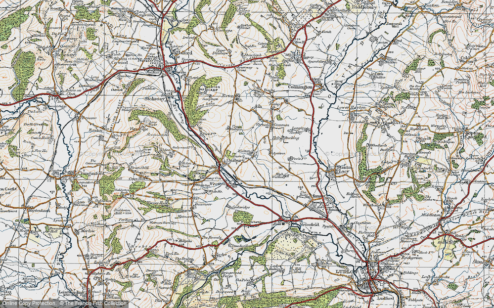 Old Map of Historic Map covering Ayntree in 1920