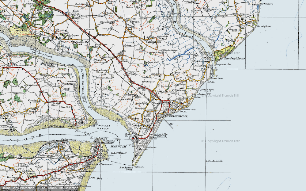 Old Map of Walton, 1921 in 1921
