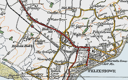 Old map of Walton in 1921