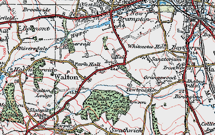 Old map of Widdowson Spring Wood in 1923