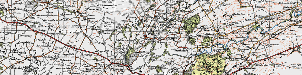 Old map of White Hill in 1925
