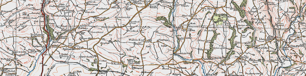 Old map of West, The in 1922
