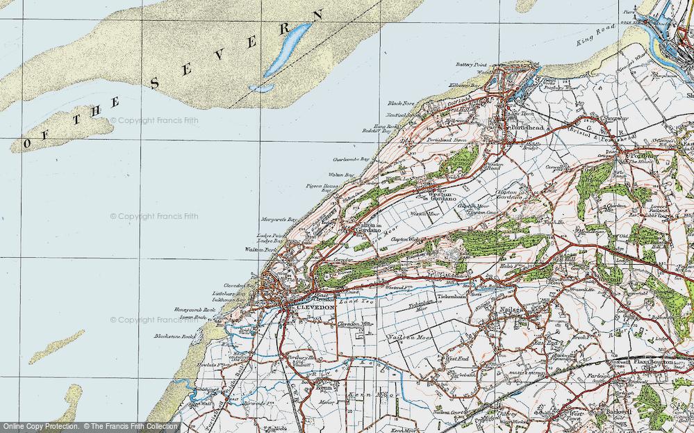 Old Map of Walton in Gordano, 1919 in 1919