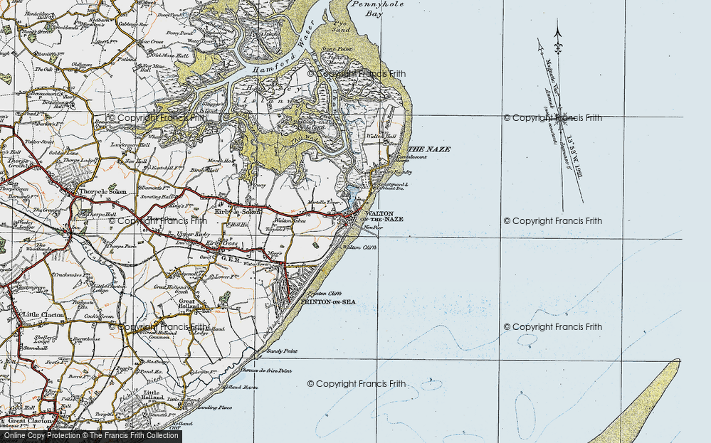 Walton On The Naze Map Map of Walton On The Naze, 1921   Francis Frith Walton On The Naze Map
