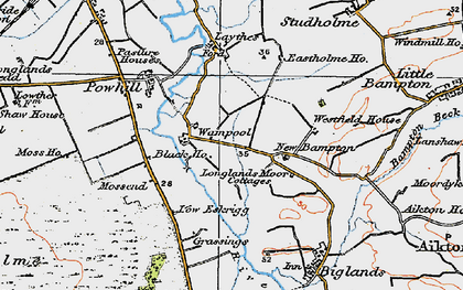 Old map of Westfield Ho in 1925