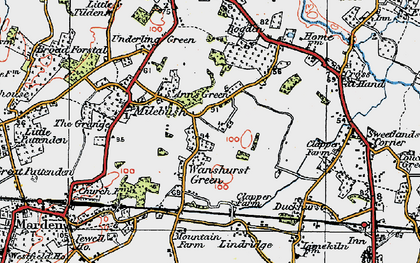 Old map of Lindridge in 1921