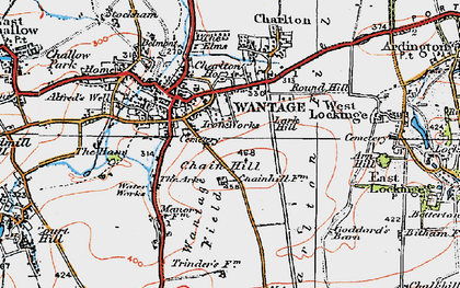 Old map of Wantage in 1919