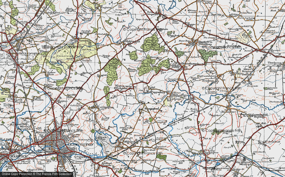 Old Map of Historic Map covering Woodhouse, The (Hotel) in 1919