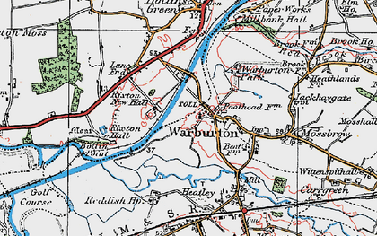 Old map of Warburton in 1923