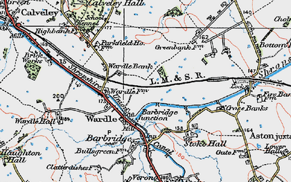 Old map of Barbridge Junction in 1923
