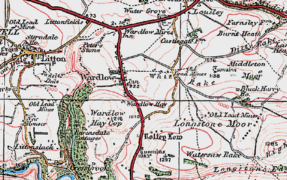 Old map of White Rake in 1923