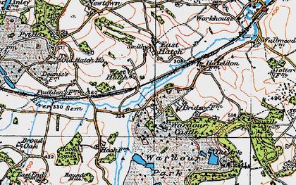 Old map of Wardour Castle in 1919