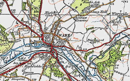 Old map of Ware in 1919