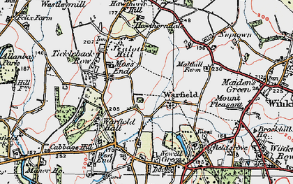 Old map of Warfield in 1919