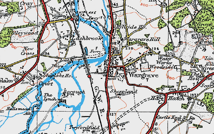 Old map of Wargrave in 1919