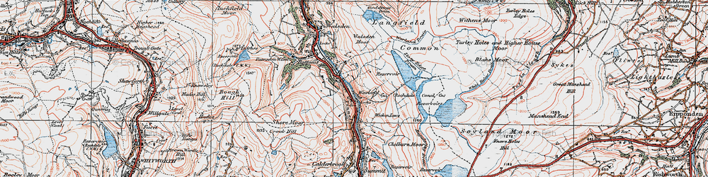 Old map of Wicken Lowe in 1925