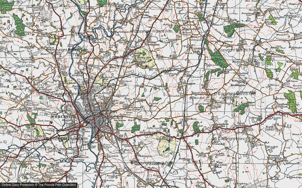 Old Map of Historic Map covering Woodgreen in 1920