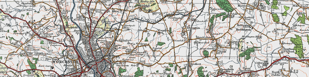 Old map of Woodgreen in 1920