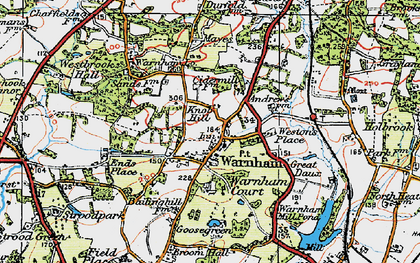 Old map of Westons Place in 1920