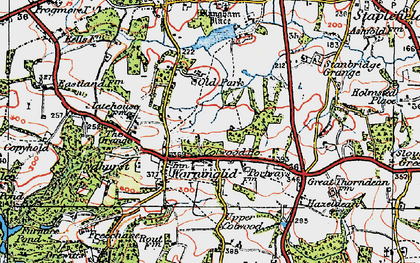 Old map of Warninglid in 1920