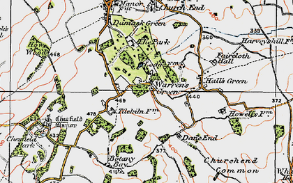 Old map of Weston Park in 1919