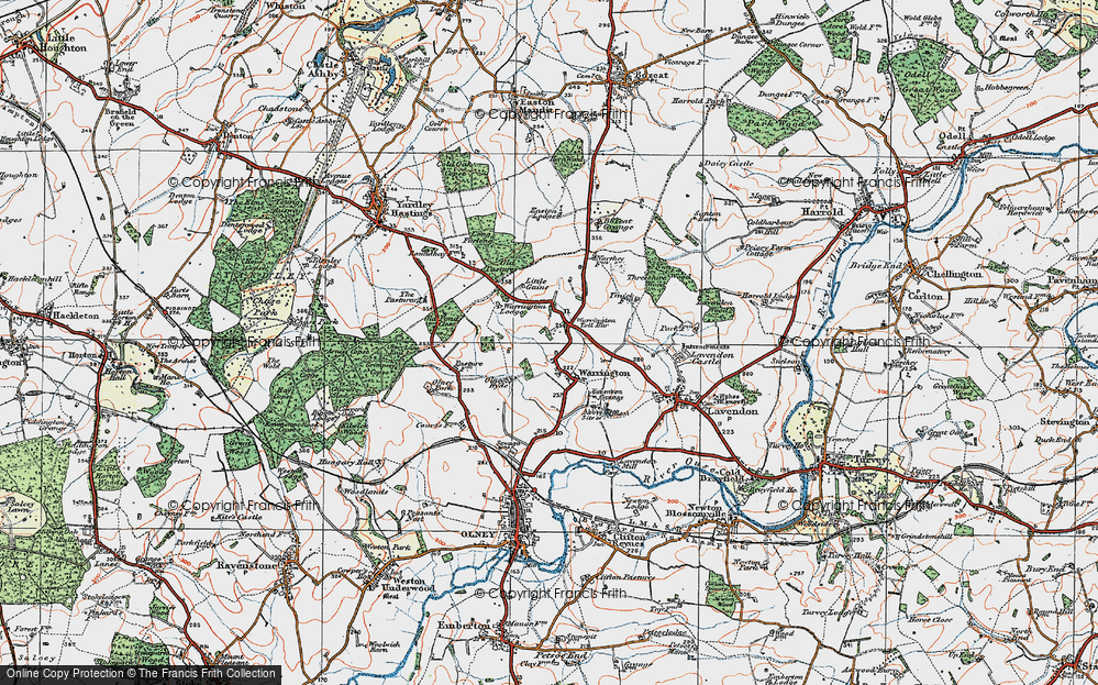 Map of Warrington, 1919 - Francis Frith