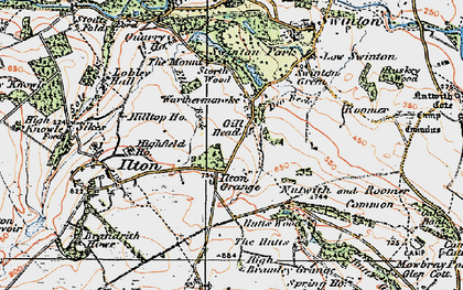 Old map of Swinton Park in 1925