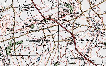 Old map of Ashleigh in 1921