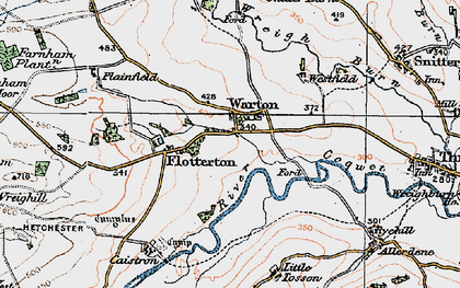 Old map of Wreighill Pike in 1925