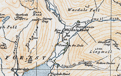 Old map of Yewbarrow in 1925