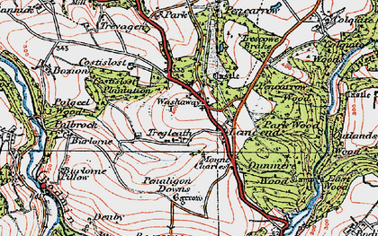 Old map of Washaway in 1919