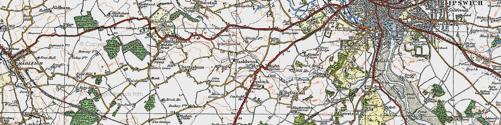 Old map of Amor Hall in 1921