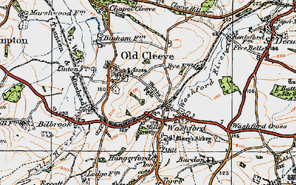 Old map of Washford in 1919