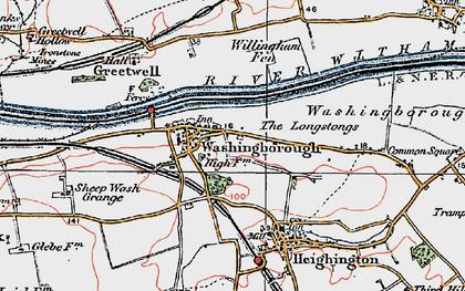 Old map of Willingham Fen in 1923