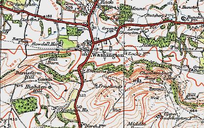 Old map of Windlesham (Sch) in 1920
