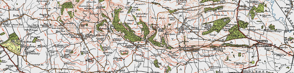 Old map of Tom Smith's Cross in 1925
