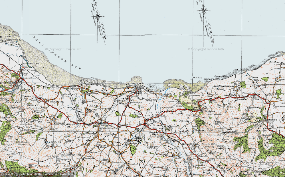 Old Map of Watchet, 1919 in 1919
