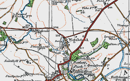 Old map of Watchfield in 1919