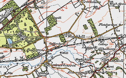 Old map of Aldersceugh in 1925