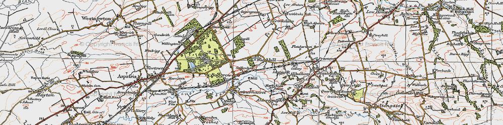 Old map of Aldersceugh in 1925