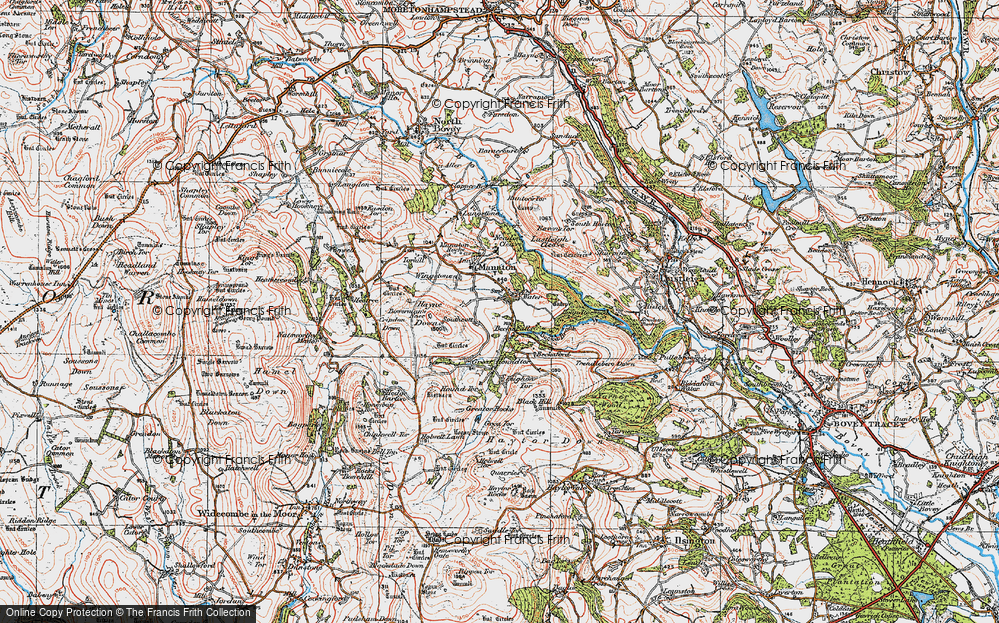 Old Map of Historic Map covering Leighon in 1919