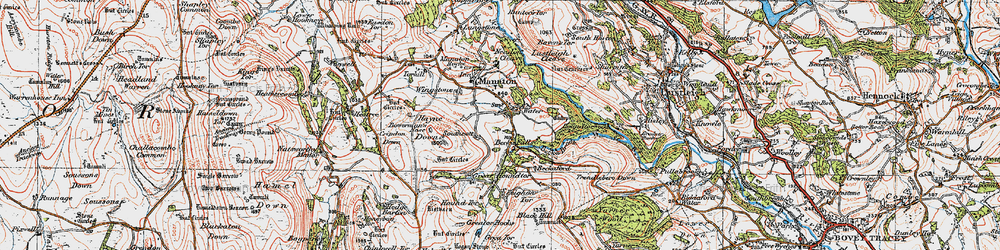 Old map of Leighon in 1919