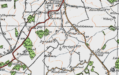 Old map of Woodstone in 1920