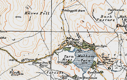 Old map of Back Pasture in 1924