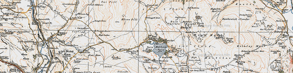 Old map of Westside Ho in 1924